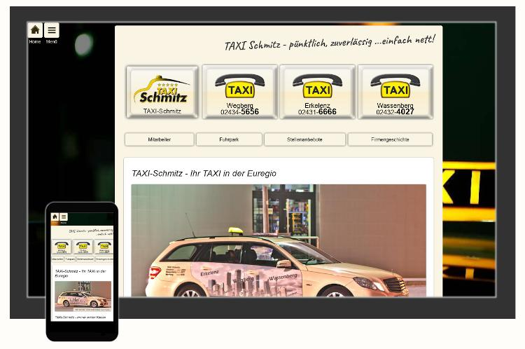Screenshot Website TAXI Schmitz